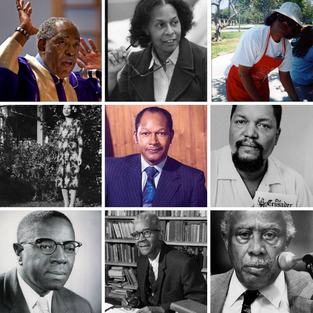 Nine black history narrators
