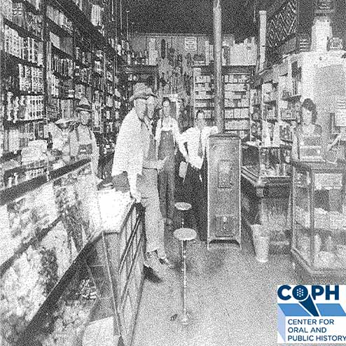 Interior of Parley Redd Mercantile c. 1930 from Southeastern Utah Project.